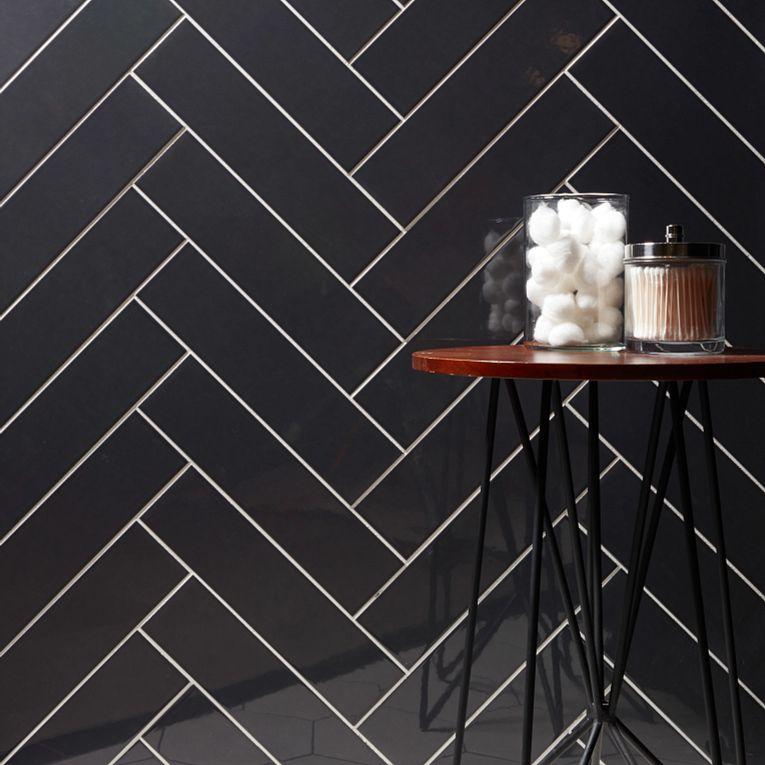 Paloma Steel Glossy 4 x 16 & Paros White Hex