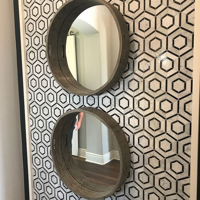 Hex Nero Feature Wall