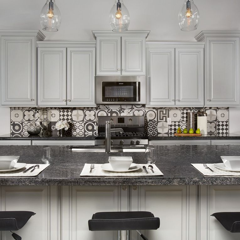 Cementine Black and White Mix & Steel Grey Granite