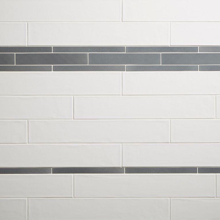 QT Titanium Brushed 1 X 12 & 2 x 12 & Smooth White Glossy 4 x 24