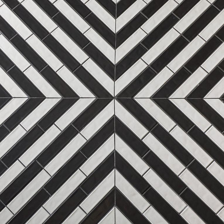 Concerto Black & White Matte 2-1/2 x 9-3/4